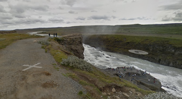 Google Streetview of Gulfoss Waterfall