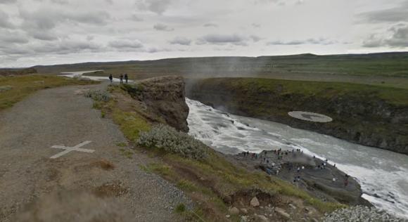 Google Streetview of Gulfoss Waterfall