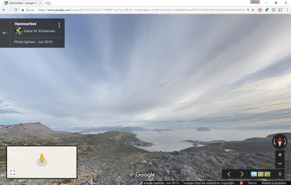 Screen capture of photo sphere by Oskar W. Kristensen