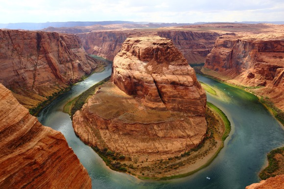 Stunning shot of the snake river in grand canyon