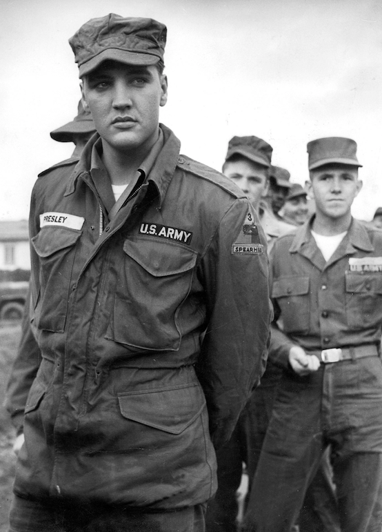 Image result for elvis in the army