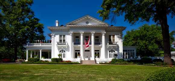 Southern-style mansion with columns
