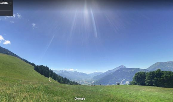 The hills above Maienfeld, Switzerland | Nicolai Stotz, Google Maps